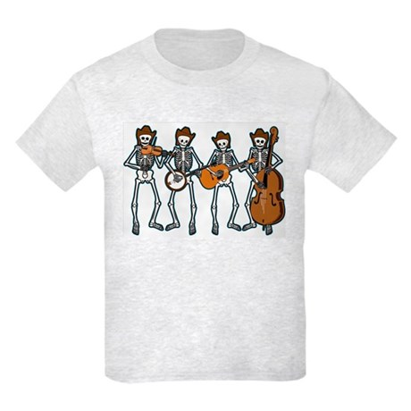 Cowboy Music Skeletons Kids Light T-Shirt