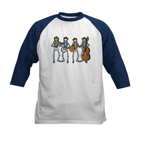 Cowboy Music Skeletons Kids Baseball Jersey