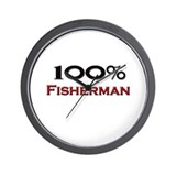100 Percent Fisherman Wall Clock