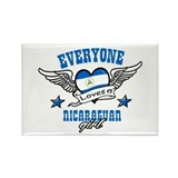 Everyone loves a Nicaraguan girl Rectangle Magnet
