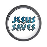 Jesus Saves Wall Clock