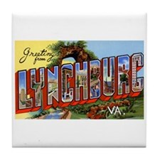 Lynchburg Virginia Greetings Tile Coaster