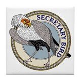 Secretary Bird Tile Coaster