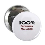 "100 Percent Facilities Manager 2.25"" Button (10 pa"