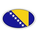 Bosnia Herzegovina stickers Oval Decal