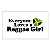 Everyone Loves a Reggae Girl Rectangle Decal