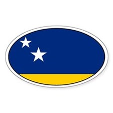 Curacao stickers Oval Sticker (50 pk)