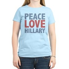 Peace Love Hillary Clinton T-Shirt