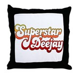 SuperStar DeeJay Throw Pillow