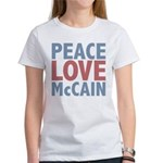 Peace Love John McCain Women's T-Shirt