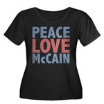Peace Love John McCain Women's Plus Size Scoop Nec