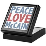 Peace Love John McCain Keepsake Box