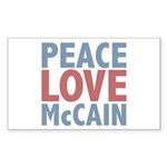 Peace Love John McCain Rectangle Sticker 10 pk)