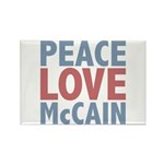 Peace Love John McCain Rectangle Magnet (10 pack)