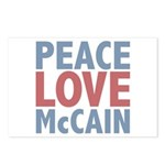 Peace Love John McCain Postcards (Package of 8)