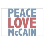 Peace Love John McCain Large Poster