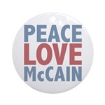 Peace Love John McCain Ornament (Round)