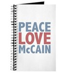 Peace Love John McCain Journal