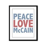 Peace Love John McCain Framed Panel Print