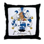 Oellinger Family Crest Throw Pillow