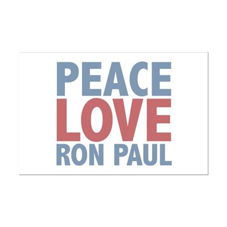 Peace Love Ron Paul Mini Poster Print