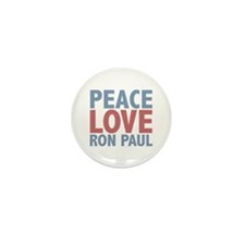 Peace Love Ron Paul Mini Button (100 pack)
