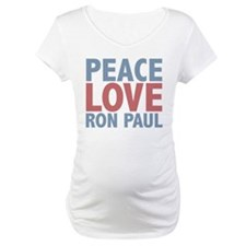 Peace Love Ron Paul Shirt
