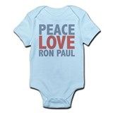Peace Love Ron Paul Onesie