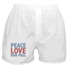 Peace Love Ron Paul Boxer Shorts