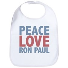 Peace Love Ron Paul Bib