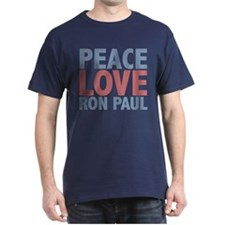Peace Love Ron Paul T-Shirt