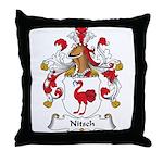 Nitsch Family Crest Throw Pillow