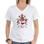 Nitsch Family Crest Women's V-Neck T-Shirt