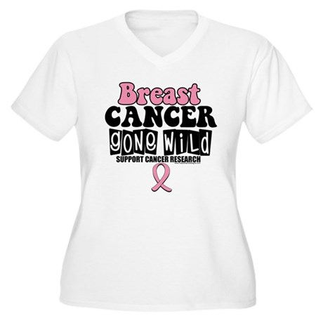 Breast Cancer Gone Wild Women's Plus Size V-Neck T
