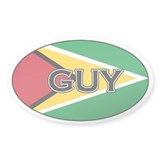 Guyanese Stickers Oval Sticker (50 pk)