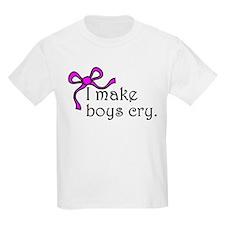 I make boys cry Kids Light T-Shirt