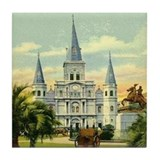Old Jackson Square Tile Coaster