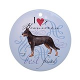 Beauceron Ornament (Round)
