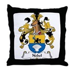 Nebel Family Crest Throw Pillow