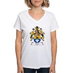Nebel Family Crest Women's V-Neck T-Shirt