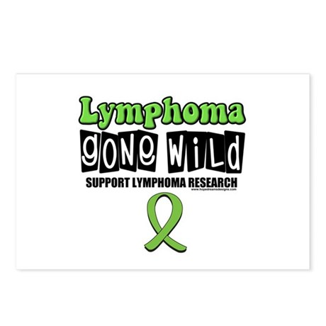 Lymphoma Gone Wild Postcards (Package of 8)