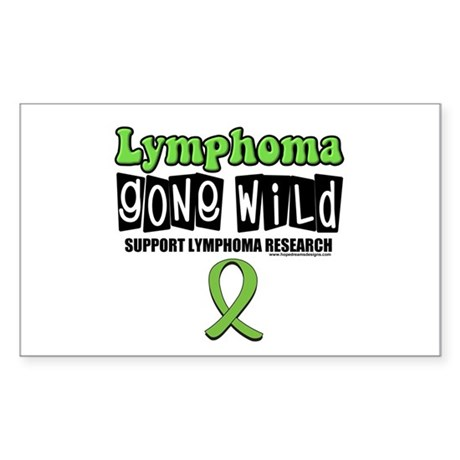 Lymphoma Gone Wild Rectangle Sticker 10 pk)