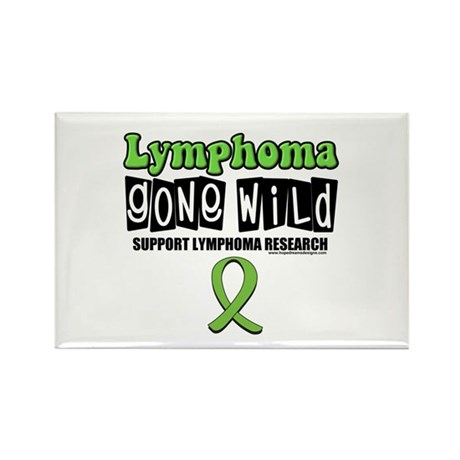 Lymphoma Gone Wild Rectangle Magnet