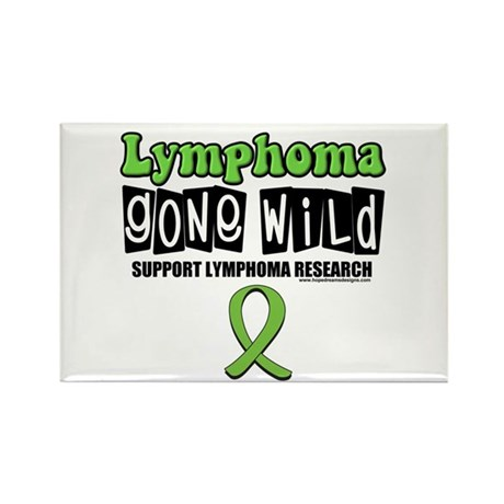 Lymphoma Gone Wild Rectangle Magnet (10 pack)