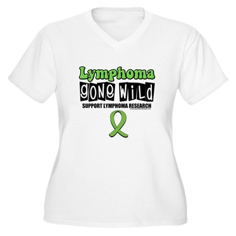 Lymphoma Gone Wild Women's Plus Size V-Neck T-Shir