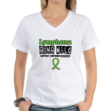 Lymphoma Gone Wild Women's V-Neck T-Shirt