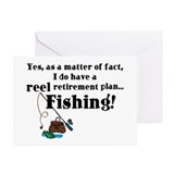Reel Retirement Plan Greeting Cards (Pk of 20)