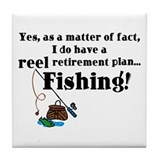Reel Retirement Plan Tile Coaster