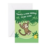Monkey Baby Birth Announcement Cards (Pk of 10)