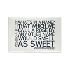 Romeo & Juliet Rose Quote Rectangle Magnet